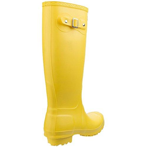 Botas de agua Wellingtons Sandrigham con hebilla para mujer amarillo
