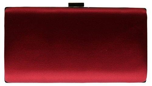 Satin Bag Hard Bag Gemstones Evening Party Drops Case Maroon HandBags Luxury New Clutch Girly Aa6xqBw