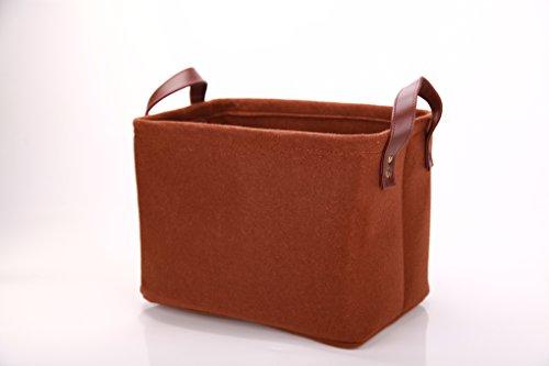 [해외]Perber 보관 바구니, 장식 축소 가능한 직사각 펠트 패브릭 보관 상자, 보관 상자에 충분한 크기/Perber Storage Baskets,Decorative Collapsible Rectangular Felt Fabric Storage Bin,large enough for Storage Box