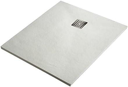 Plato de Ducha Resina Sintextone Mod. Pacifico 80 cm Ancho (130x80, Blanco Ral 9003): Amazon.es: Bricolaje y herramientas