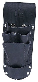 Ideal Industries 35-784BLK Leather Hip Holster Six Pocket Tool Pouch Black