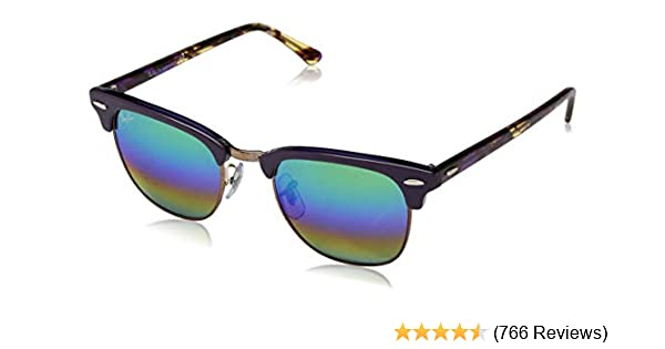 2e04b495a Amazon.com: Ray-Ban RB3016 Classic Clubmaster Sunglasses: Clothing