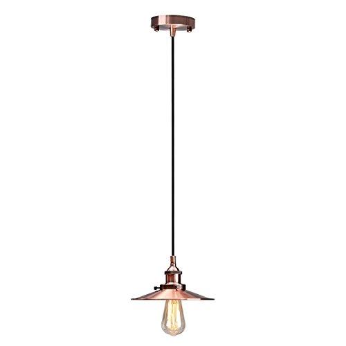 Hitommy Vintage E27 Ceiling Metal Edison Pendant Lighting Chandelier Lamp - Red Bronze