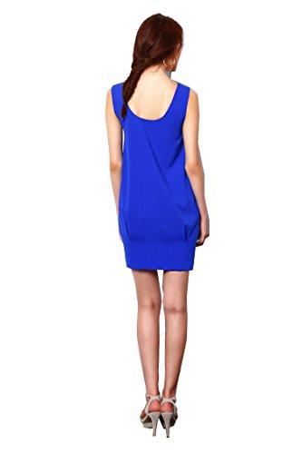 Del Pezzo Blu Cobalto Un A Vestito Palloncino Ritagliato Boutique Vestito Con Billie La Spalla Di SAw1qx