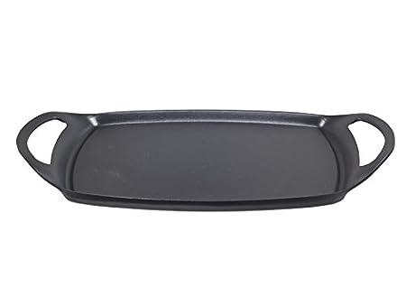 BEPER Teka Plancha para Asar Lisa de 36 cm, Aluminio, Negro ...