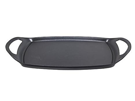 BEPER Teka Plancha para Asar Lisa de 36 cm, Aluminio, Negro: Amazon.es: Hogar