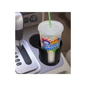 Gadjit Cup Keeper Cup Holder Adapter (Black) -- Holds Mugs, Convenience Store Cups, and Bottles, Fits Most Cars, Trucks, Boats, Golf Carts, RVs