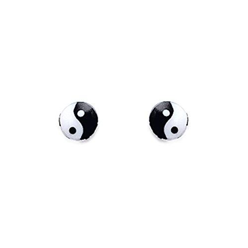 Tousmesbijoux Boucles d'oreilles Yin Yang 925/00