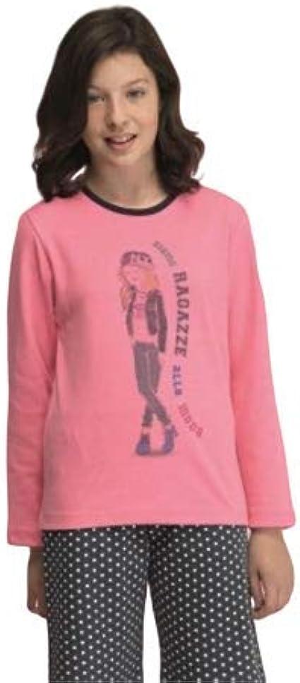 EVEN Pijama niña Juvenil Invierno. Color Gris y Azul. Algodón ...