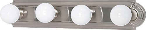 Nuvo 60/301 Four Light Vanity Strip, Brushed Nickel, 24-Inch
