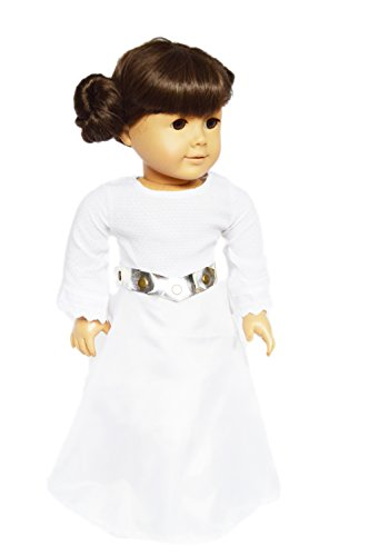 Brittany's Princess Leia Inspired Gown Compatible with American Girl Dolls -