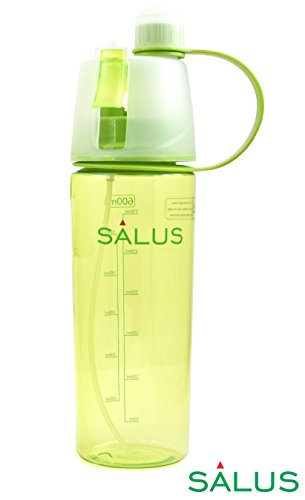 SALUS Sport Drinking and Misting Spray Water Bottle, Outdoor Sport Drinking, BPA FREE, 600 ml