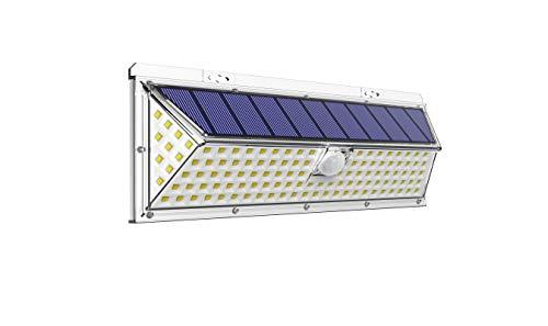 VOSONX Outdoor Solar Lights - 126 LEDs Solar Powered Security Lights, Wireless Light Sensor & Motion Sensor Light, IP65 Waterproof Outdoor Wall Lights with 270° Wide Angle for Front Door, Garage, Yard