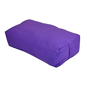 YogaAccessories MAXSupport Deluxe Rectangular Cotton Yoga Bolster
