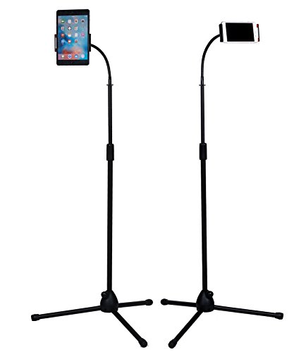 Kufox Foldable Telescopic Phone Tripod Floor Stand / Holder / Mount, Floor Selfie Stick Holder for Phone and Tablet
