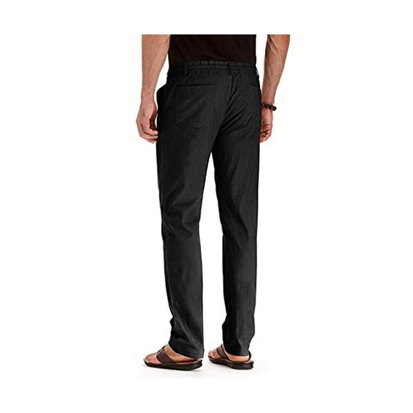FRAUIT Pantaloni Uomo Lino Tasconi Pantaloni Ragazzo Slim Fit Elasticizzati Pantalone Uomini Casual Plus Size Oversize… 3 spesavip