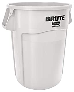 Rubbermaid Commercial Vented BRUTE Trash Can, 44 Gallon, White, 1779740 (B00P0S0YSU) | Amazon price tracker / tracking, Amazon price history charts, Amazon price watches, Amazon price drop alerts