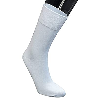 Yomandamor Women's Best Bamboo Seamless Crew Dress Black Socks, 5 Pairs L Size at Women's Clothing store