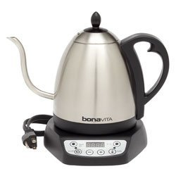 Bonavita Electric Hot Water Kettle for Tea and Coffee - 1 Liter Pot with Gooseneck Spout and Variable Temperature Settings