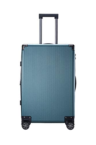 I CASE Travel Luggage, Zipper Frame Expandable Hard Shell TSA Lock Suitcase Spinner Wheels 20 inch Cabin Trolley  Blue