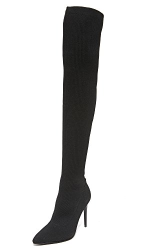 KENDALL + KYLIE Women's Anabel II Thigh High Stretch Boots, Black, 8.5 B(M) US