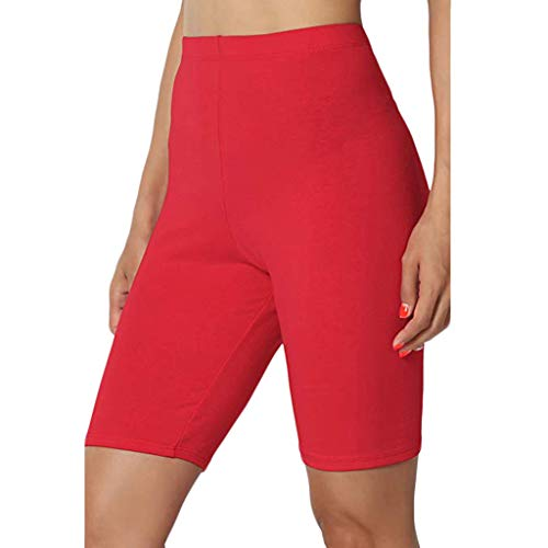 WOCACHI Womens Capris Underwear Sexy High Elasticity Yoga Leggings Slim Fit Lace Safety Pants Pajama Bottom Casual Fashion Elastic Plus Size Compression 2019 Summer Deals Under 5 Dollars