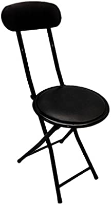 Stupendous Ethels Home Goods E1206 Portable Small Black Folding Chair Padded With Lock Mechanism Easy Storage And Stackable Gmtry Best Dining Table And Chair Ideas Images Gmtryco