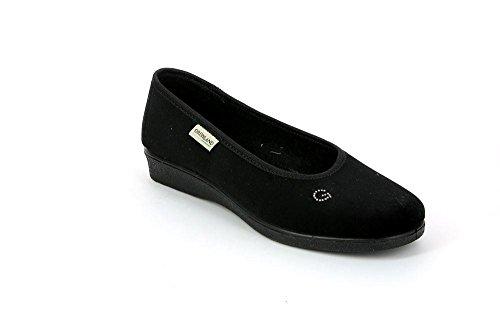 Pantofola Donna Nero KAMP PA0014 Grunland 41 8Eq744