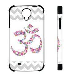 Kingsface Houseofcases Grey Floral Ohm Yoga Samsung Galaxy S4 I9500 case cover - Hybrid Plastic And Durable Silicon Samsung Galaxy S4 qUcVw8dTIxY I9500 case cover