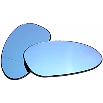 Mirror Glass Exterior Mirror Blue Heated Left Right BMW 5 SERIES E39 Facelift