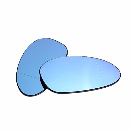 Ricoy For BMW E82 E90 E91 E92 E46 OEM Door Mirror Glass - Heated (Blue Glass) (pack of 2) (M3 Mirror Bmw)