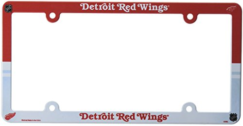NHL Detroit Red Wings Full Color License Plate Frame, Team Color, One Size