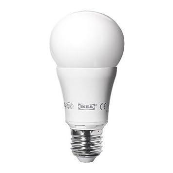 Ikea Ledare Led Lampe E27 Dimmbar Rund In Opalwei 600 Lumen Sjpenna