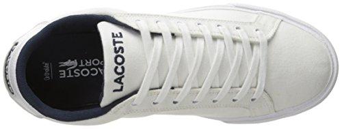Lacoste Mens Grad Vulc Fb Mode Sneaker Blanc / Marine