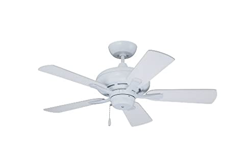 Emerson Ceiling Fans CF773SW Monterey II Indoor Ceiling Fan, 42-Inch Blades, Light Kit Adaptable, Satin White - Emerson Indoor Fans