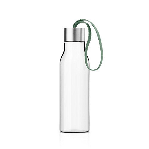 Eva Solo 0.5L Drinking Bottle Clear with (Granite green strap)