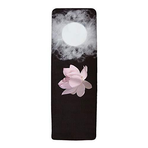 toalla de dise/ño premium con correa de yoga de c/á/ñamo crudo Utopiat Loto inmersivo la esterilla de yoga de combinaci/ón ecol/ógica