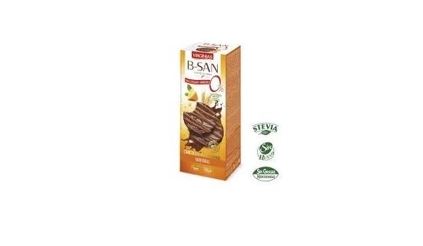 Galleta Virginias B-San Chocolate Stevia A La Naranja 120 G: Amazon.es: Alimentación y bebidas