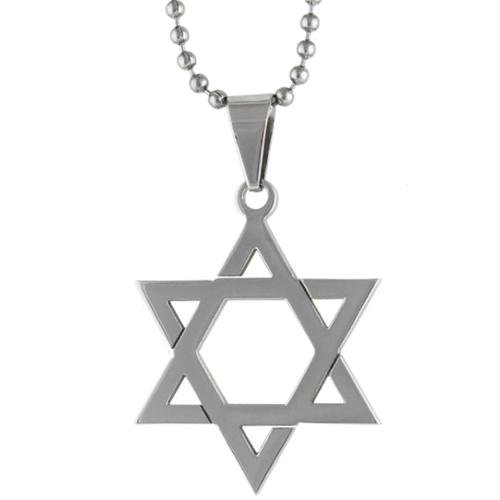 Star of David Pendant Necklace Choker Chains Charm Black Leather Cord - 8