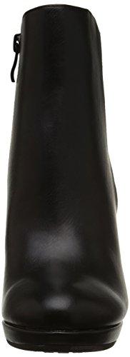 Buffle Y436-51b Dames P1735a Bottes Demi-arbre Noir (noir 01)