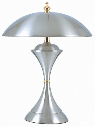 HPP Inc K314 15-Inch 40-Watt 3-Way Touch Lamp, Brushed Steel