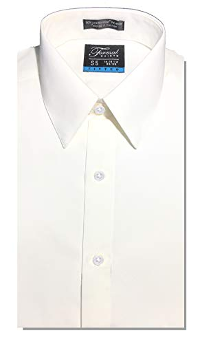 (Luxe Microfiber Men's Fitted Point Collar Dress Shirt)