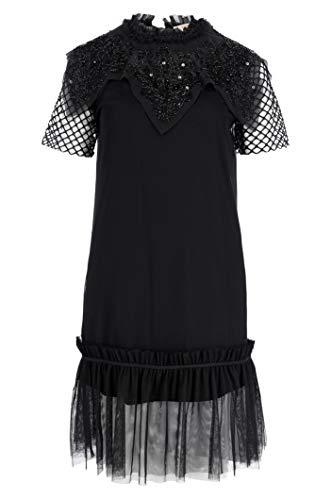 Mujer Twinset Negro Para Vestido Milano afqa4pw