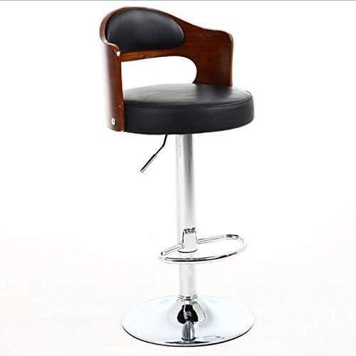 KANULAN Staaftelwerk kruk barkruk smeedijzeren stoel rugleuning massief houten voorkruk rug hoge stoel barkruk lounge stoel B