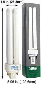 Compact Fluorescent Bulbs F13DDTT/DE/865/G24Q-1/ECO (Case of 15)