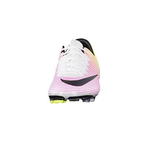 Nike Youth Mercurial Vapor X Stevige Grond Cleats [wit] (5y) Wit, Totaal Oranje, Volt, Zwart