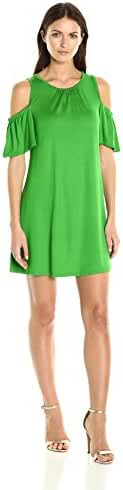 Trina Turk Women's Lianet Must Have Jersey Cold Shoulder Dress