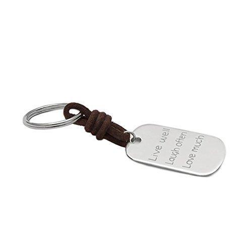 NEGRIL militar. Llavero en cuero y placa militar 45*25mm de plata: Amazon.es: Handmade