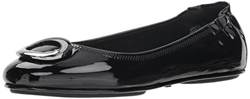 Bandolino Women's Fanciful Ballet Flat, Black Synthetic, 7.5 M US