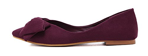 N Ballerines Bout Mode Pointu Papillon Femme ud Aisun 64waqx